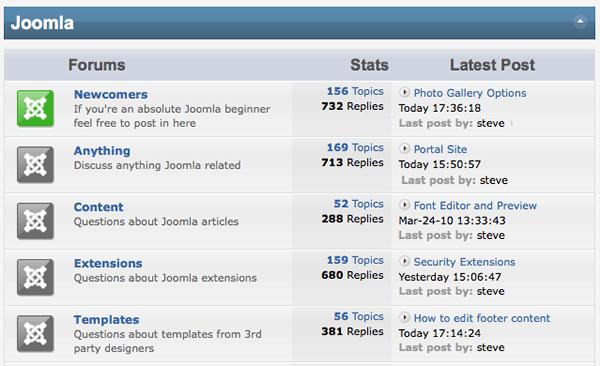joomla forums