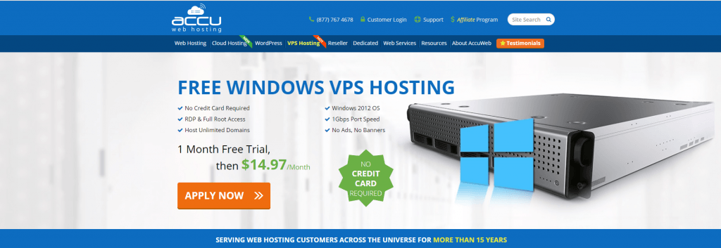 Accu Web Hosting Free VPS hosting