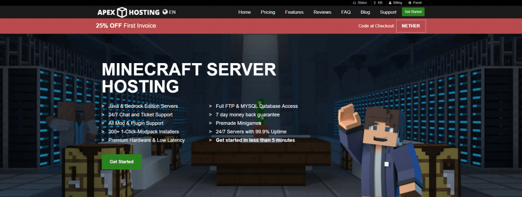 apex hosting minecraft server hosting