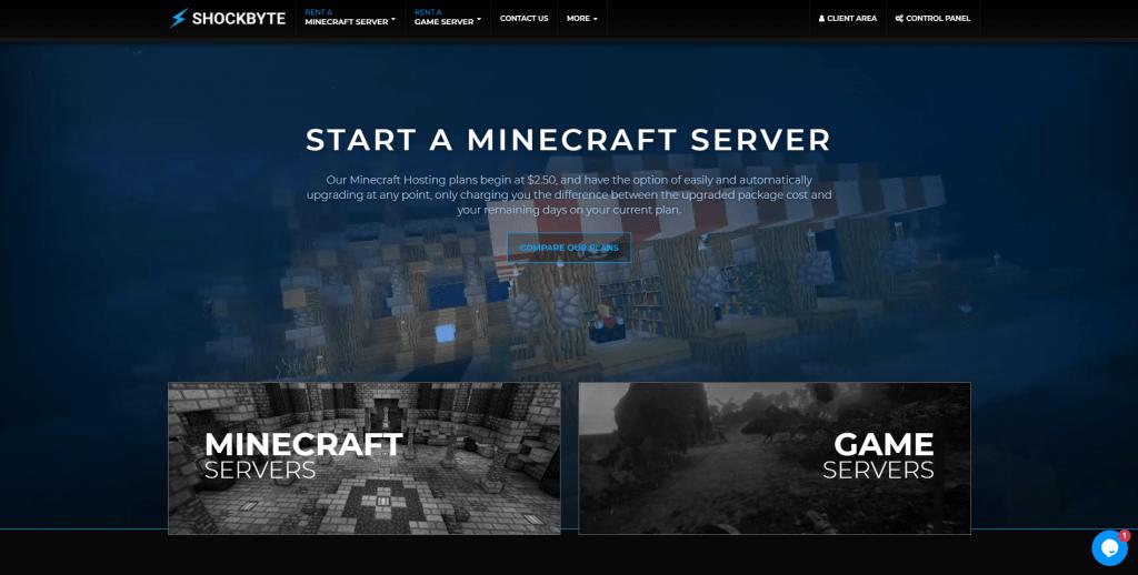 shockbyte minecraft hosting