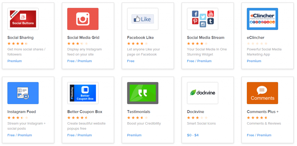 weebly social apps