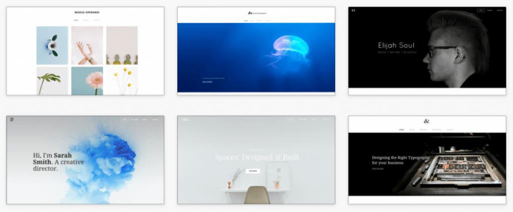 weebly portfolio themes
