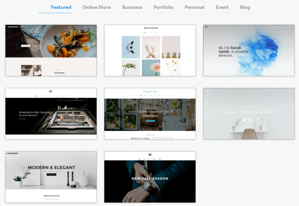 weebly featured themes