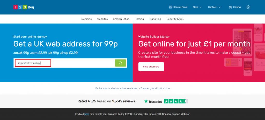 123 reg buy a domain