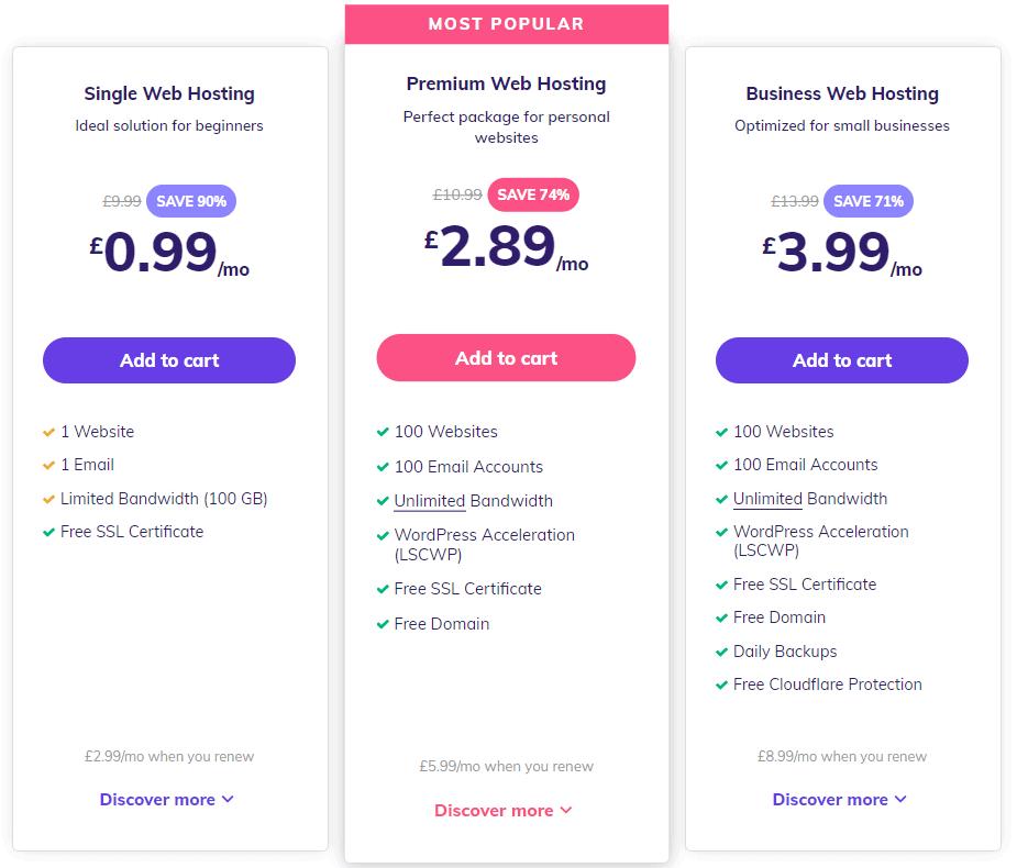 hostinger unlimited shared hosting