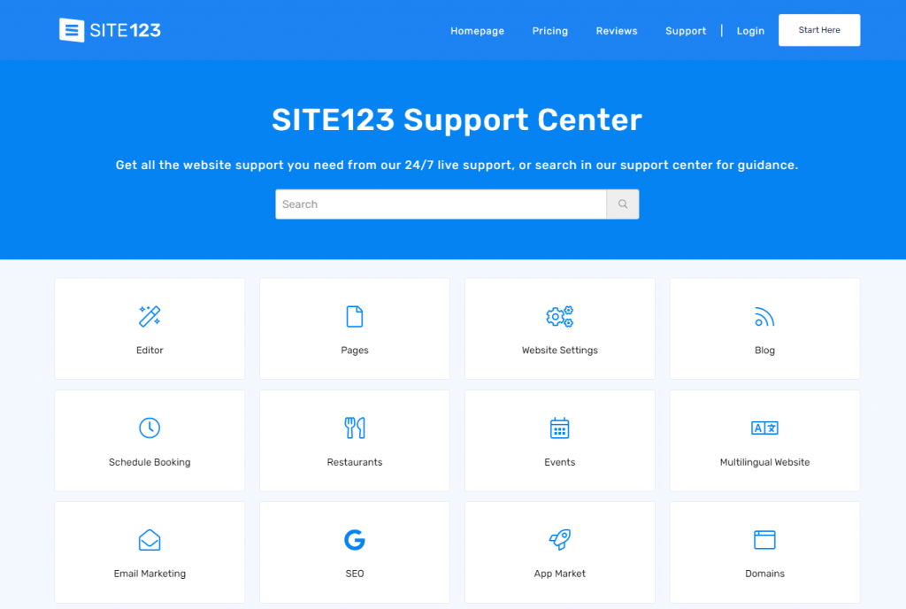 site123 support center